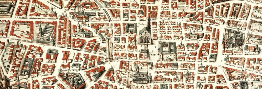 particolare di Bononia Docet Mater Studiorum, Joan Blaeu 1663